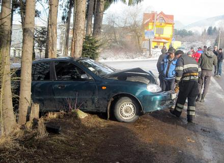 На Міжгірщині авто впало в прірву