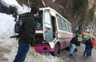 На Рахівщині рейсовий автобус Івано-Франківськ - Мукачево перекинувся в кювет