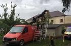 В Ужгороді одне дерево впало на мікроавтобус, а інше на дорогу
