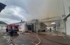 У Мукачеві горять склади на меблевій фабриці (ВІДЕО)