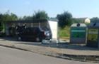 В Ужгороді у ДТП зіткнулися BMW та Славута, останню відкинуло на смітник