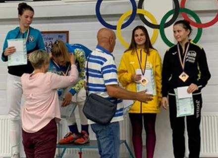 Ужгородка здобула бронзу на Чемпіонаті України з фехтування
