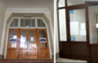 В Ужгородській лінгвістичній гімназії унікальні дерев'яні двері замінили пластиковими
