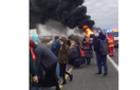 В Угорщині загорівся автобус із закарпатцями