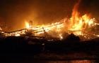 На Тячівщині згорів цех по виготовленню брикетів