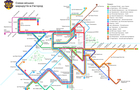 В Ужгороді розробили візуалізацію схеми руху громадського транспорту