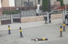 У Хусті жінка на автомобілі збила обмежувальний стовпчик і поїхала далі (ВІДЕО)