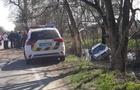 Поліцейські, які розбили службове авто на Закарпатті, відсторонені від роботи