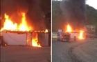 На околицях Мукачева сталася масштабна пожежа біля двох АЗС