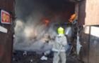 На Рахівщині згоріло побутове приміщення на складах з металобрухтом