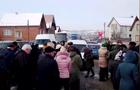 На Закарпатті люди перекрили автомобільну трасу Мукачево-Рогатин
