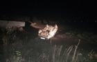На Мукачівщині автомобіль, у якому була сім'я з дітьми, перекинувся на дах