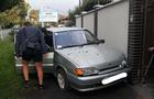У Мукачеві водієві, який врізався на автомобілі в огорожу, першими допомогу надали співробітники муніципальної поліції