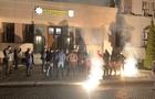 Вночі націоналісти провели акцію біля будівлі управління Нацполіції в Закарпатській області