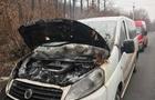 На Виноградівщині під час руху загорівся мікроавтобус