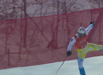 Закарпатський гірськолижник ледь не травмувався під час тренування на Олімпіаді в Кореї (ФОТО)