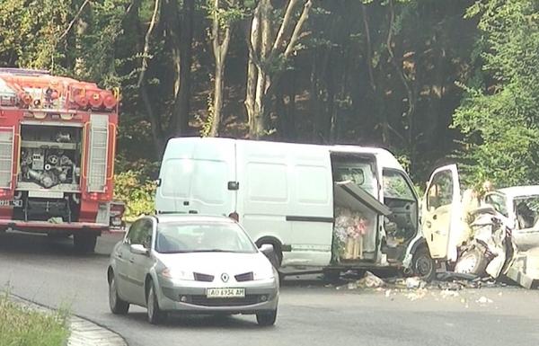 ДТП на Закарпатті: зіштовхнулися вантажний та пасажирський мікроавтобуси. Є постраждалі (ФОТО), фото-2
