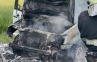 На Виноградівщині під час руху повністю згорів автомобіль (ВІДЕО)