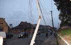 У Хусті мікроавтобус зніс нову електроопору (ФОТОФАКТ)