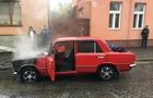 У Виноградові автомобіль ВАЗ загорівся під час руху (ФОТО)