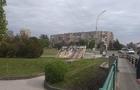 В Ужгороді від вітру завалився білборд (ФОТОФАКТ)