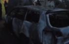 В Ужгороді активісту вночі спалили машину. Раніше цю ж машину невідомі пошкодили сокирою (ФОТО, ВІДЕО)
