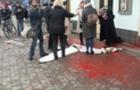 В Ужгороді націоналісти облили фарбою жінок (ВІДЕО)