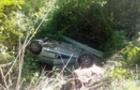 Біля Виноградова автомобіль перекинувся на дах