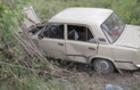 На Рахівщині автомобіль ВАЗ перекинувся в кювет. Водій втік
