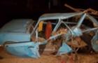 Жахлива аварія у Мукачеві: Один автомобіль розтрощено, а інший перекинувся на дах (ФОТО)