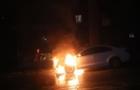 В Ужгороді на вулиці Підгірній згорів автомобіль Шкода Октавія
