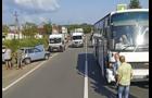 На Мукачівщині пасажирський автобус зіштовхнувся з легковим автомоблем