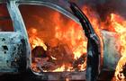 В Ужгороді згорів автомобіль БМВ