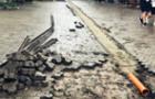 Існуючу зливову каналізацію в Ужгороді на вулиці Волошина прибрали тимчасово
