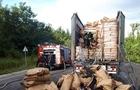 В Ужгороді біля держкордону горіла вантажівка з вугіллям
