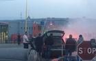 На держкордоні зі Словаччиною в Закарпатті загорівся автомобіль (ВІДЕО)