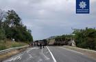 На Закарпатті через аварію вантажівки заблоковано міжнародну автотрасу