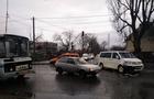 В Ужгороді величезні затори через автоаварію за участі рейсового автобусу на вулиці Гагаріна