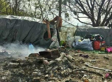 Під Львовом спалили табір закарпатських циган
