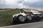 На Виноградівщині перекинулася вантажівка, яка могла перевозити небезпечні речовини
