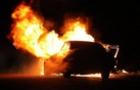 В Ужгороді підпалили елітний автомобіль, який належить місцевому бізнесмену (ВІДЕО)