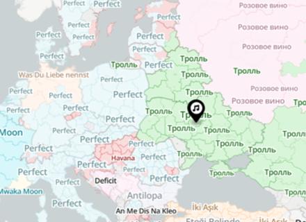Найпопулярніші пісні в кожній країні нанесли на карту