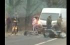 У Виноградові мікроавтобус збив мотоцикліста