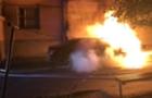 У Мукачеві вночі підпалили елітний автомобіль