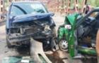 Аварія автомобілів на мості у Виноградові. Троє людей госпіталізовано