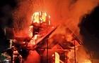 Вночі в Іршаві повністю згоріла дерев'яна церква (ФОТО)