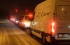 Гуманітарна допомога: На Закарпаття знову прибула колона з 50 мікроавтобусів з Австрії