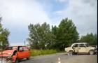 ДТП біля Чопа: Два автомобіля розбиті вщент (ВІДЕО)