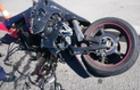 Камери відеоспостереження зафіксували, як у Виноградові мотоцикл врізався у легковий автомобіль (ВІДЕО)