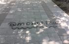 В Ужгороді стіни історичних будинків та нову плитку на реставрованій набережній розписав вандал-наркодилер (ФОТО)